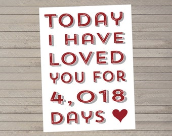 Custom, Personalized Valentine's Day or Anniversary Card -- Love Card -- Printable
