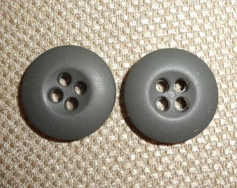 Lot of 50 Round Heavier Gray 4 Hole Buttons 3/4 Inch in Diameter x 1/8 Inch Thick