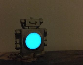Glow robot keychain