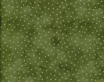 Grass green scattered dots fabric from Maywood.