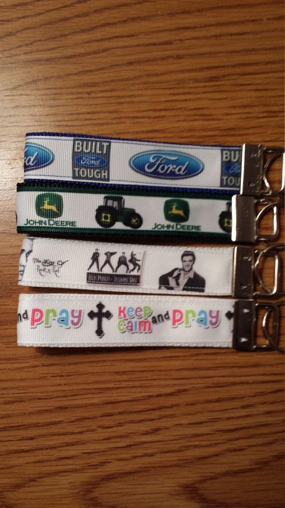 Ford, John Deer, Elvis , Keep Calm and Pray Key Fob