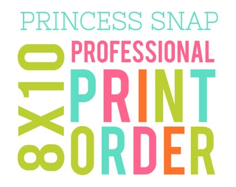 "8""x10"" Professional Print Listing"