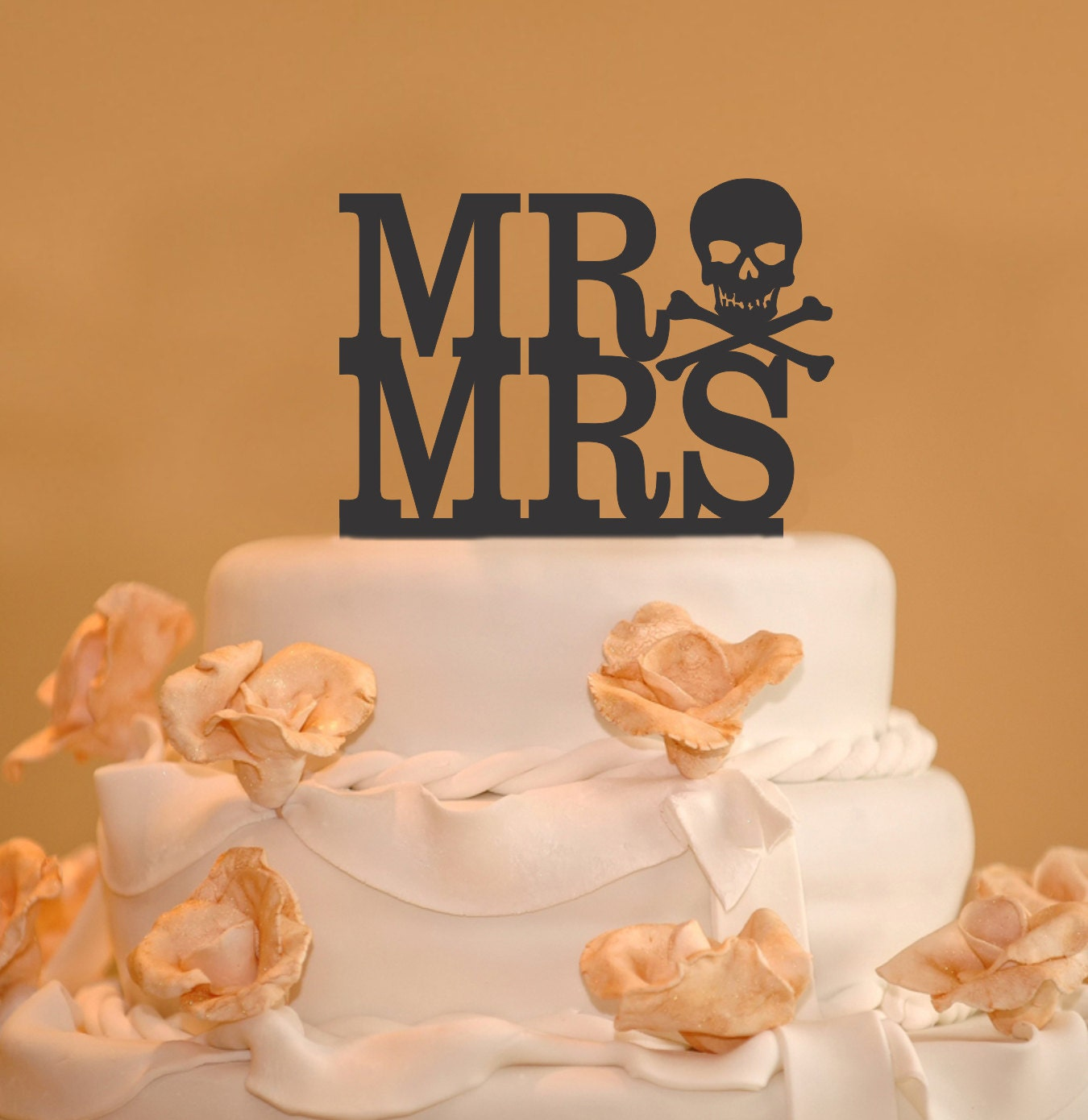 skull wedding cake toppers mr and mrs wedding cake toppers skull by 20185