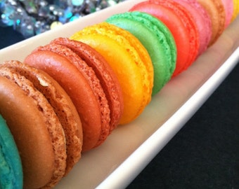 12 French macarons - perfect for Valentine gift