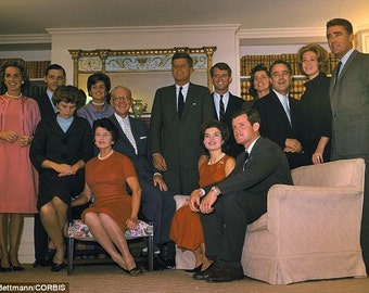 John F. Kennedy, Kennedy family poses after the election of John F. Kennedy