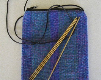 Hand woven purse magenta, turquoise, green, purple, iridescent, 1/2 off