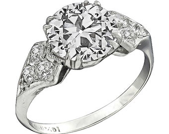 Art Deco 2.41ct Diamond Engagement Ring