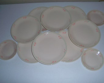 Corelle Corning Summer Blossoms Set Of Eleven Plates
