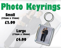 Photo Keyring. Have your own photo printed and inserted into a durable keyring