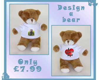 Custom Printed Teddy Bear