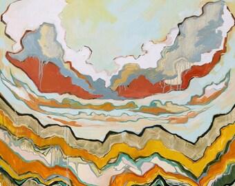 Cloudscape - Archival Print, modern landscape, abstract landscape