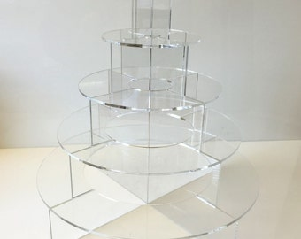 Round Hors d'Oeuvres Presentation Stand - 5 Tier