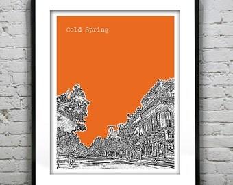Cold Spring New York Skyline Poster Art Print