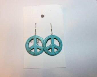 Peace Turquoise Pierced Earrings
