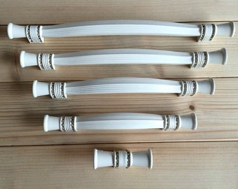 "5"" 6.3"" 7.56"" 8.8"" White Crystal Kitchen Cabinet Door Handle Rhinestone Drawer Pull Handles Dresser Glass Knobs Extra Large 128 160 192 224"