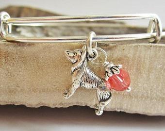 """Husky Large Dangle Stackable Bangle Bracelet (2.5""""-3"""")"""