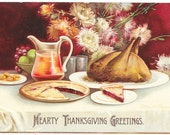 Clapsaddle Thanksgiving Dinner Postcard, 1908