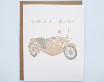 We're in This Together Letterpress Card