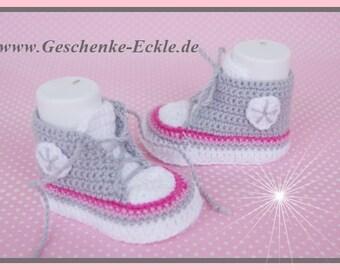 Baby sneakers of sneakers grey/pink