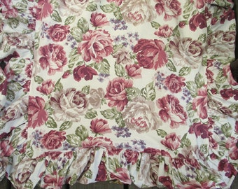 Ruffled Pillowshams, Burgundy,Pink, Mauve,Green,Taupe,Beige,Flowered,Cabbage Rose,Violets, English Cottag