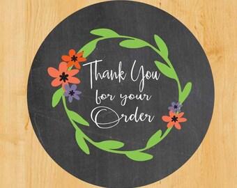Business Labels | Etsy Shop Labels | Product Labels | Thanks Labels | Chalkboard Labels | Thank you Labels