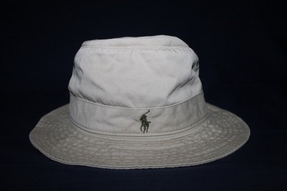 Vintage polo ralph lauren classic pony bucket hat by for Polo fishing hat