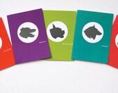 Jilly Jack Designs Dog Series Note Card Set