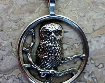 Saw-Whet Owl Pendant - Handmade in the Pacific Northwest