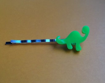 Green Dinosaur Hair Clip
