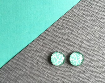 Geo Stud,     Geometric design acrylic stud earrings