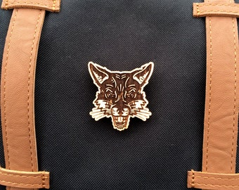 Fox Wood Brooch