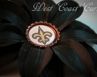 New Orleans Saints Flower Clip