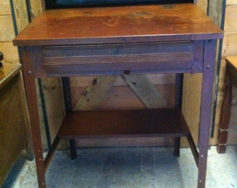 Vintage Industrial Shop Desk / Industrial Drafting Desk / Drawing Table / Metal Desk / Vintage Desk/Metal Shop Desk / Drafting Table