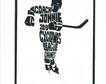 Hockey Coach Gift DIGITAL Printable Coach Gift Gift For