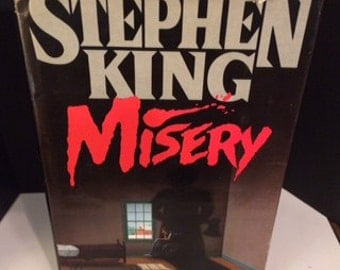 Misery by Stephen King (1987, Hardcover 1st Edition 1st Print)