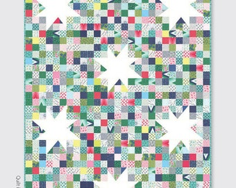 Lucky Stars V and Co Jelly Roll or  Fat Quarter Friendly Batik Quilt Pattern