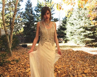 Magnificent Original 1920s Beaded Dress / Museum Quality / Art Deco / Flapper Dress / Wedding Dress / Bridal / Size Small