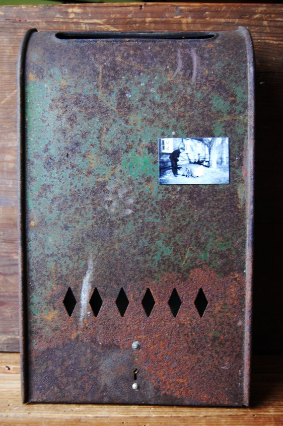 Wall Decor Mailbox : Vintage mailbox wall metal rustic