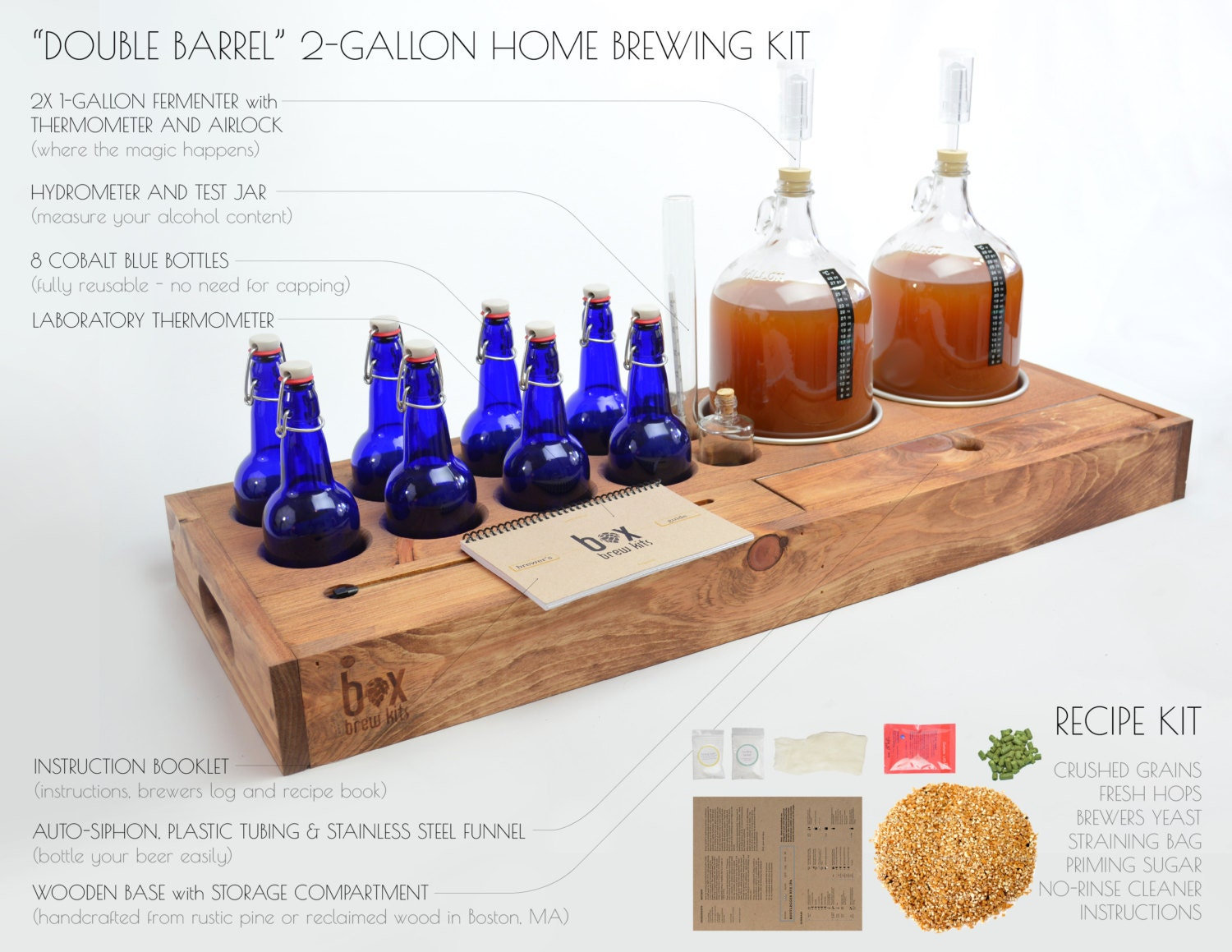 Reclaimed Wood Beer Making Kit brew your own beer in