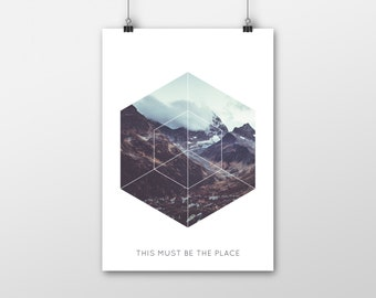 Geometric Mountain Range Print - This Must Be The Place
