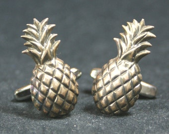 Brass Pineapple Cufflinks Free Gift Bag