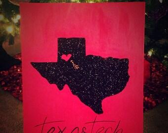 Texas Tech glitter canvas