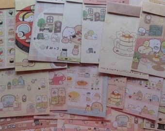 San-X Sumikko Gurashi Cafe Food Sushi Theme Letter Sets Envelopes writing paper stationery cute kawaii japan stationary like papyrus gift