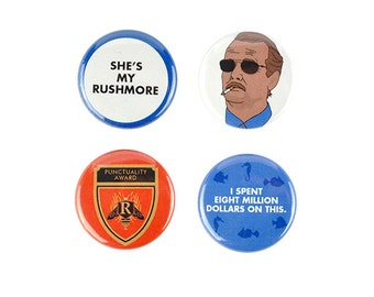 Herman Blume button Set! Rushmore inspired, She's My Rushmore, Bill Murray, badges, pin back, wes anderson