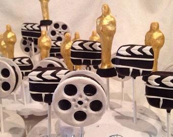 Academy Awards, THE OSCARS theme cake pops, movie awards, film, Hollywood