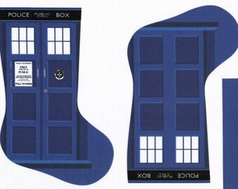 TARDIS Doctor Who stocking fabric