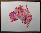 """AUSTRALIA no#3 ORIGINAL ARTWORK 15"""" x 20"""" by Niki Pilkington"""
