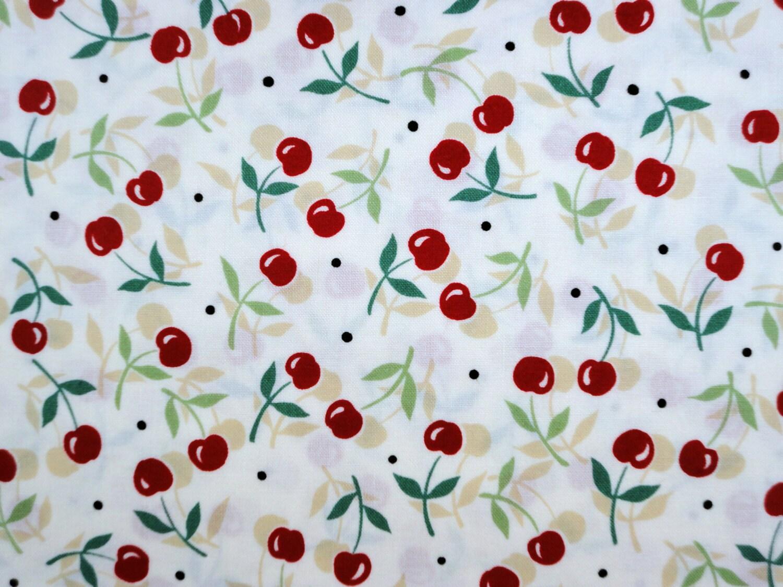 Vintage Cherries 1930 S Reproduction Flour Sack Print
