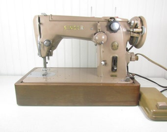 Vintage Singer Sewing Machine, Tan Sewing Machine, The Singer Manfg Company, Foot Pedal, Working Sewing Machine, model 306K