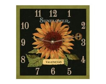 Mantle Clock- Sunflower Square Clock